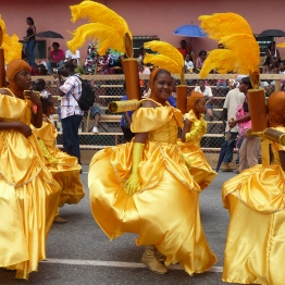 Girls in masquerade, Port of Spain (20016-11), Trinidad
