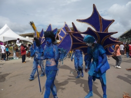 Blue Devil on Carnival Tuesday, Savannah, Port of Spain, Trinidad