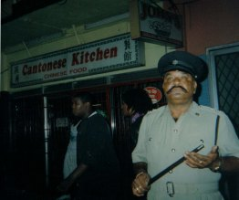 Police man, J'ouvert morning, St James, Port of Spain, Trinidad (2006-2011)
